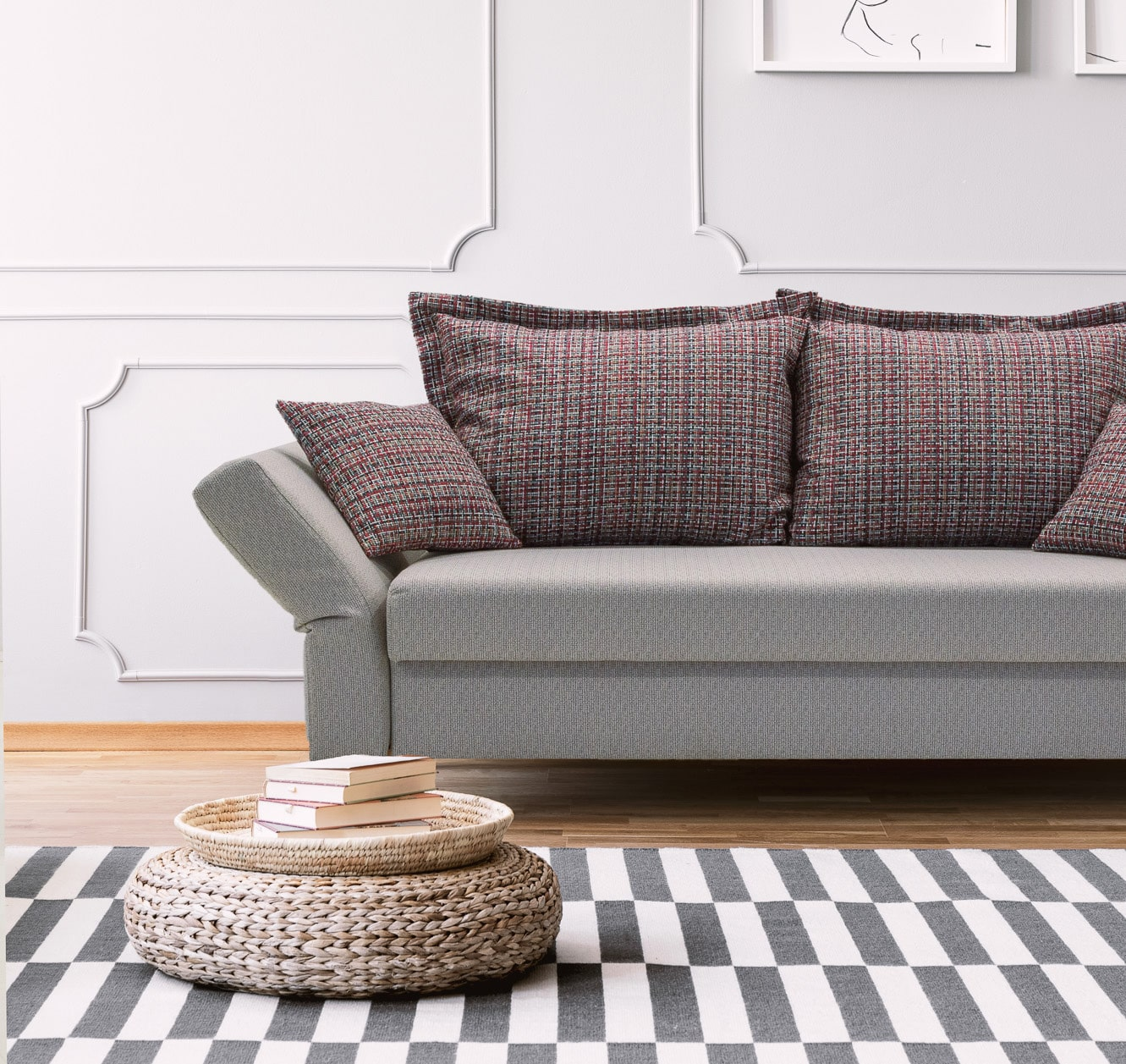 graues Sofa von Franz Fertig